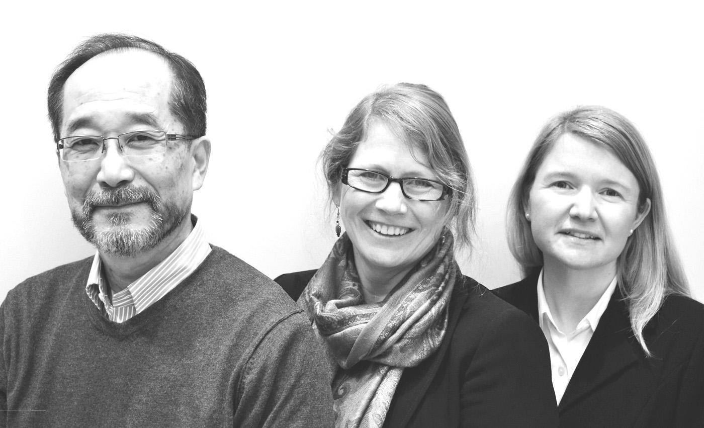 Jim Yamaguchi, Audrey West, and Ida Ottesen