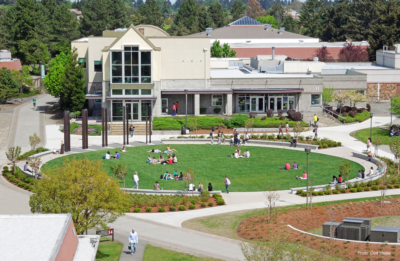 Tacoma Community College Trustee Plaza and Campus Green
