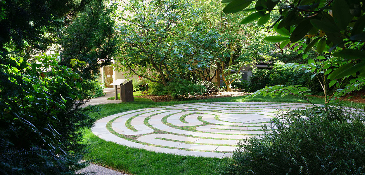 Seattle University Labyrinth at Loyola Garden