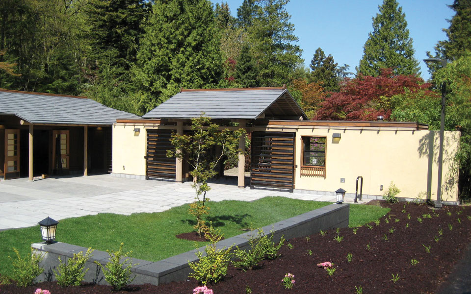 Nakano Associates Japanese Garden Entry Gatehouse