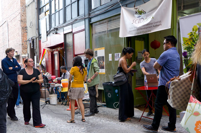 Food, drinks, and activities at Stories in the Alley