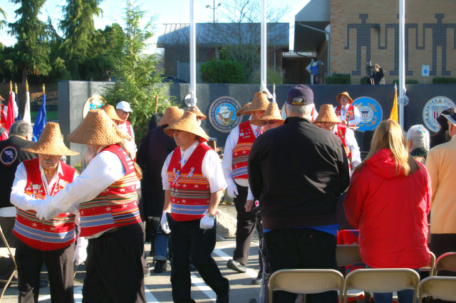 Puyallup Veterans procession during the opening ceremony