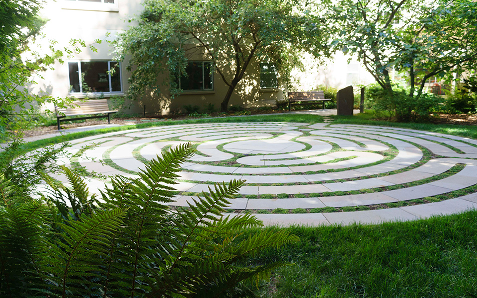 Labyrinth at Loyola Garden